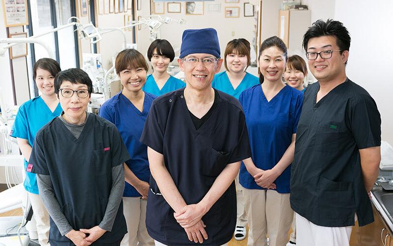 喜びと誇りを持って働く歯科医院を目指します