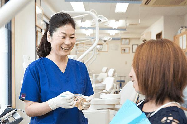 担当の歯科医師・歯科衛生士がサポート